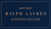 Ralph Lauren Reports Third Quarter Fiscal 2021 Results