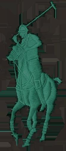 Embroidered green Polo Pony logo