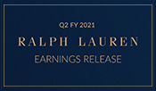 Ralph Lauren Reports Second Quarter Fiscal 2021 Results