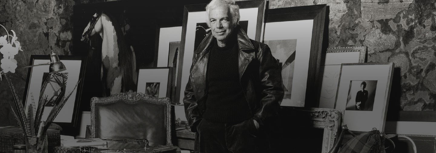 Ralph Lauren in his office
