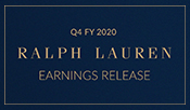 Ralph Lauren Reports Fourth Quarter Fiscal 2020 Results