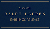 Ralph Lauren Reports First Quarter Fiscal 2021 Results
