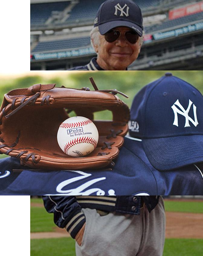 Mr. Lauren wearing a Ralph Lauren Yankees™ Collection cap & jacket